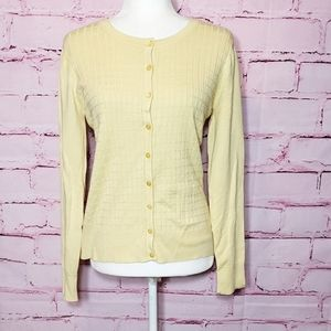 Charter Club Butter Yellow Button Up Cardigan